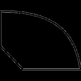 Kvartstafliste 10x13 mm Fyr