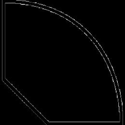 Kvartstafliste 12x12 mm Fyr