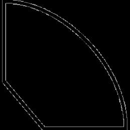 Kvartstafliste 15x15 mm Fyr