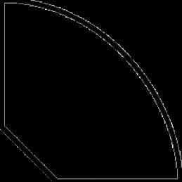 Kvartstaflste 21x21 mm