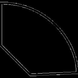 Kvartstafliste 33x33 mm