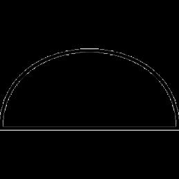 Halvstafliste 8x16 mm Fyr