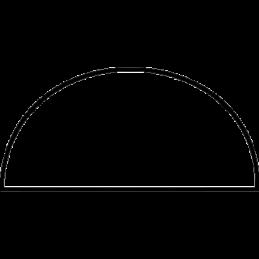 Halvstafliste 11x22 mm Fyr