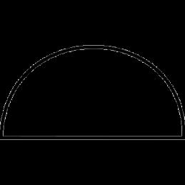 Halvstafliste 14x28 mm Fyr