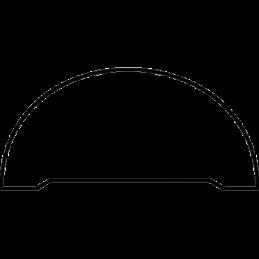 Halvstafliste 27x55 mm