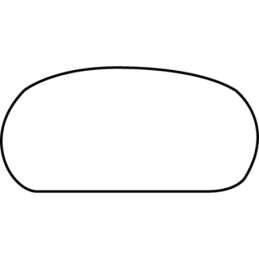 Håndløber 32x68 mm